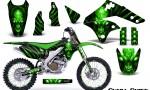 Kawasaki KX250F 06 08 Graphics Kit Skull Chief Green NP Rims 150x90 - Kawasaki KX250F 2006-2008 Graphics