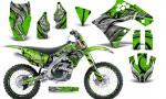 Kawasaki KX250F 09 12 CreatorX Graphics Kit Fire Blade Black Green NP Rims 150x90 - Kawasaki KX250F 2009-2012 Graphics
