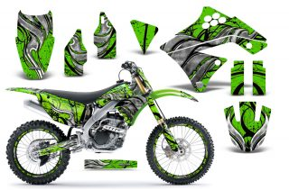 Kawasaki KX250F 09 12 CreatorX Graphics Kit Fire Blade Black Green NP Rims 320x211 - Kawasaki KX250F 2009-2012 Graphics