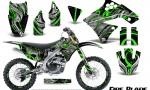Kawasaki KX250F 09 12 CreatorX Graphics Kit Fire Blade Green Black NP Rims 150x90 - Kawasaki KX250F 2009-2012 Graphics