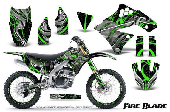 Kawasaki KX250F 09 12 CreatorX Graphics Kit Fire Blade Green Black NP Rims 570x376 - Kawasaki KX250F 2009-2012 Graphics