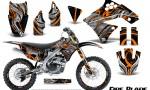 Kawasaki KX250F 09 12 CreatorX Graphics Kit Fire Blade Orange Black NP Rims 150x90 - Kawasaki KX250F 2009-2012 Graphics