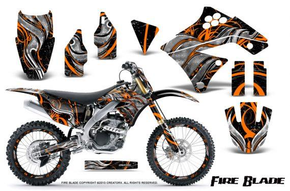 Kawasaki KX250F 09 12 CreatorX Graphics Kit Fire Blade Orange Black NP Rims 570x376 - Kawasaki KX250F 2009-2012 Graphics