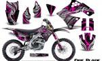 Kawasaki KX250F 09 12 CreatorX Graphics Kit Fire Blade Pink Black NP Rims 150x90 - Kawasaki KX250F 2009-2012 Graphics