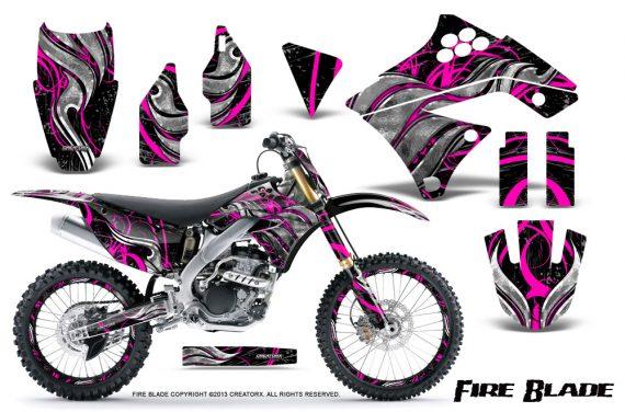 Kawasaki KX250F 09 12 CreatorX Graphics Kit Fire Blade Pink Black NP Rims 570x376 - Kawasaki KX250F 2009-2012 Graphics