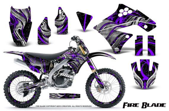Kawasaki KX250F 09 12 CreatorX Graphics Kit Fire Blade Purple Black NP Rims 570x376 - Kawasaki KX250F 2009-2012 Graphics