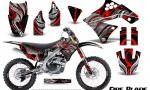 Kawasaki KX250F 09 12 CreatorX Graphics Kit Fire Blade Red Black NP Rims 150x90 - Kawasaki KX250F 2009-2012 Graphics