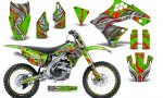Kawasaki KX250F 09 12 CreatorX Graphics Kit Fire Blade Red Green NP Rims 150x90 - Kawasaki KX250F 2009-2012 Graphics
