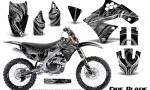 Kawasaki KX250F 09 12 CreatorX Graphics Kit Fire Blade Silver Black NP Rims 150x90 - Kawasaki KX250F 2009-2012 Graphics