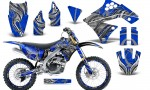 Kawasaki KX250F 09 12 CreatorX Graphics Kit Fire Blade Silver Blue NP Rims 150x90 - Kawasaki KX250F 2009-2012 Graphics
