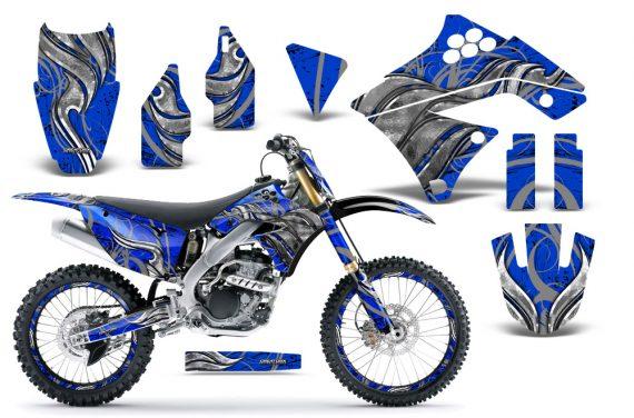Kawasaki KX250F 09 12 CreatorX Graphics Kit Fire Blade Silver Blue NP Rims 570x376 - Kawasaki KX250F 2009-2012 Graphics