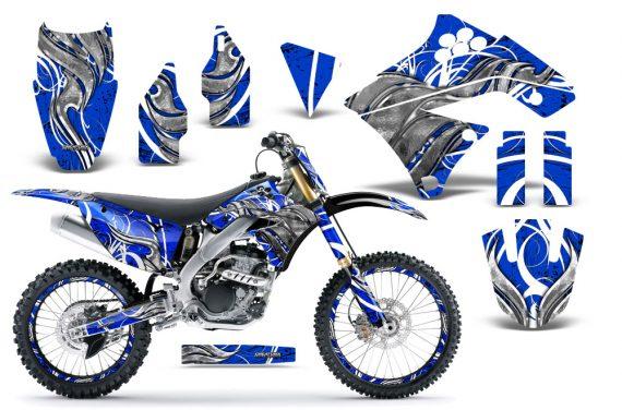 Kawasaki KX250F 09 12 CreatorX Graphics Kit Fire Blade White Blue NP Rims 570x376 - Kawasaki KX250F 2009-2012 Graphics