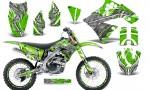 Kawasaki KX250F 09 12 CreatorX Graphics Kit Fire Blade White Green NP Rims 150x90 - Kawasaki KX250F 2009-2012 Graphics