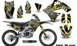 Kawasaki KX250F 09 12 CreatorX Graphics Kit Fire Blade Yellow Black NP Rims 150x90 - Kawasaki KX250F 2009-2012 Graphics
