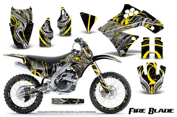Kawasaki KX250F 09 12 CreatorX Graphics Kit Fire Blade Yellow Black NP Rims 570x376 - Kawasaki KX250F 2009-2012 Graphics