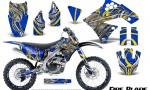 Kawasaki KX250F 09 12 CreatorX Graphics Kit Fire Blade Yellow Blue NP Rims 150x90 - Kawasaki KX250F 2009-2012 Graphics