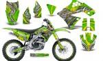 Kawasaki KX250F 09 12 CreatorX Graphics Kit Fire Blade Yellow Green NP Rims 150x90 - Kawasaki KX250F 2009-2012 Graphics
