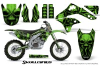 Kawasaki-KX450F-06-08-CreatorX-Graphics-Kit-Skullcified-Green-NP-Rims