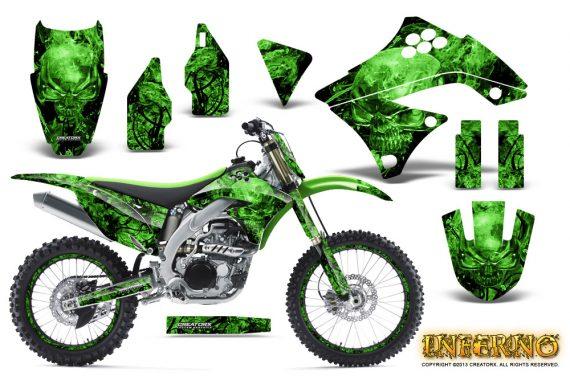 Kawasaki KX450F 09 11 CreatorX Graphics Kit Inferno Green NP Rims 570x376 - Kawasaki KX450F 2009-2011 Graphics