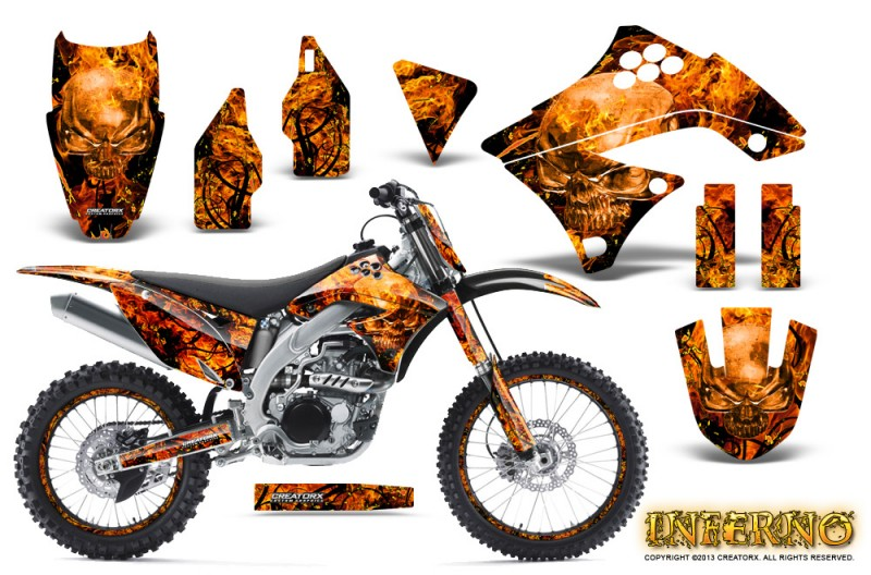 Kawasaki-KX450F-09-11-CreatorX-Graphics-Kit-Inferno-Orange-NP-Rims