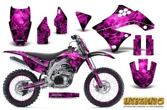 Kawasaki KX450F 09 11 CreatorX Graphics Kit Inferno Pink NP Rims 570x376 - Kawasaki KX450F 2009-2011 Graphics