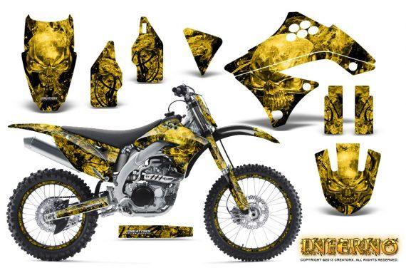Kawasaki KX450F 09 11 CreatorX Graphics Kit Inferno Yellow NP Rims 570x376 - Kawasaki KX450F 2009-2011 Graphics