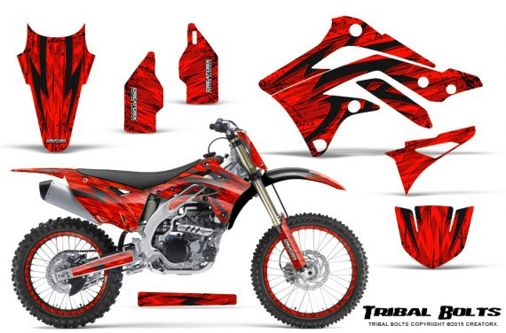 Kawasaki-KX450F-2012-2015-CreatorX-Graphics-Kit-Tribal-Bolts-Red-NP-Rims