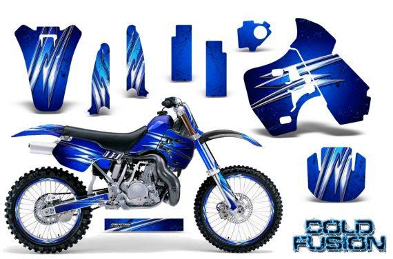 Kawasaki KX500 88 04 CreatorX Graphics Kit Cold Fusion Blue NP Rims 570x376 - Kawasaki KX500 1988-2004 Graphics