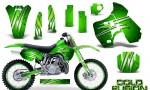 Kawasaki KX500 88 04 CreatorX Graphics Kit Cold Fusion Green NP Rims 150x90 - Kawasaki KX500 1988-2004 Graphics