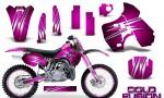 Kawasaki KX500 88 04 CreatorX Graphics Kit Cold Fusion Pink NP Rims 150x90 - Kawasaki KX500 1988-2004 Graphics