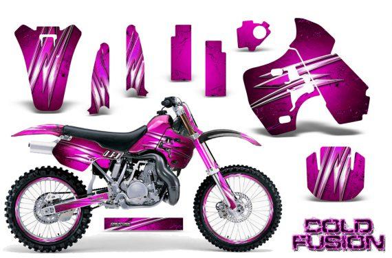 Kawasaki KX500 88 04 CreatorX Graphics Kit Cold Fusion Pink NP Rims 570x376 - Kawasaki KX500 1988-2004 Graphics