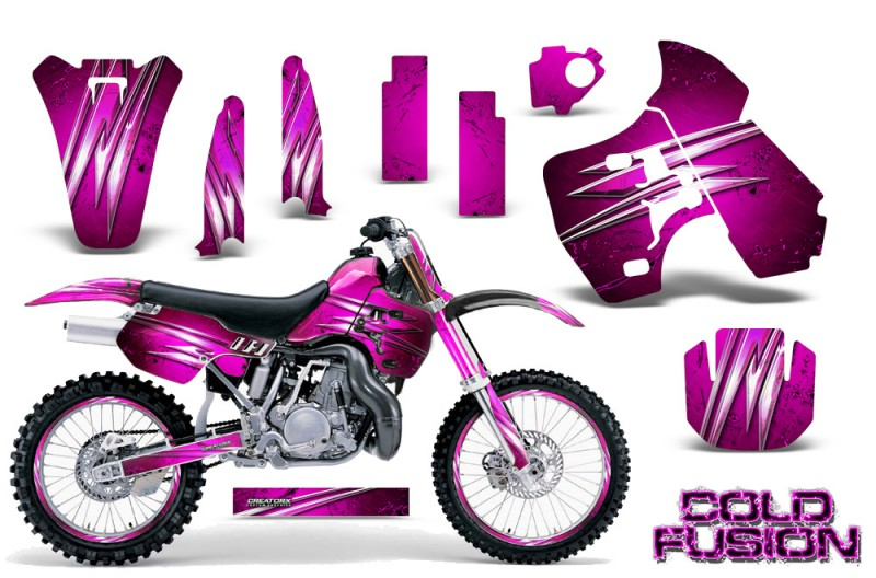 Kawasaki-KX500-88-04-CreatorX-Graphics-Kit-Cold-Fusion-Pink-NP-Rims