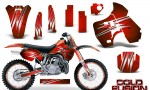 Kawasaki KX500 88 04 CreatorX Graphics Kit Cold Fusion Red NP Rims 150x90 - Kawasaki KX500 1988-2004 Graphics