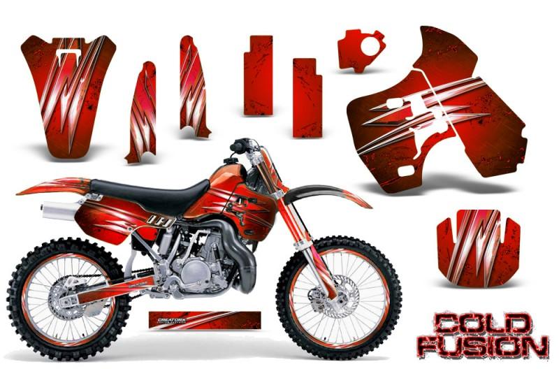 Kawasaki-KX500-88-04-CreatorX-Graphics-Kit-Cold-Fusion-Red-NP-Rims