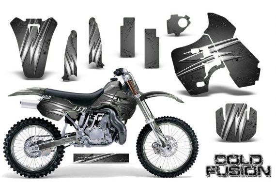 Kawasaki KX500 88 04 CreatorX Graphics Kit Cold Fusion Silver NP Rims 570x376 - Kawasaki KX500 1988-2004 Graphics