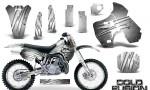 Kawasaki KX500 88 04 CreatorX Graphics Kit Cold Fusion White NP Rims 150x90 - Kawasaki KX500 1988-2004 Graphics