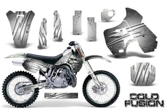 Kawasaki KX500 88 04 CreatorX Graphics Kit Cold Fusion White NP Rims 570x376 - Kawasaki KX500 1988-2004 Graphics