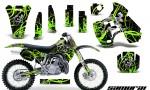Kawasaki KX500 88 04 CreatorX Graphics Kit Samurai Green Black NP Rims 150x90 - Kawasaki KX500 1988-2004 Graphics