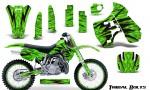 Kawasaki KX500 88 04 CreatorX Graphics Kit Tribal Bolts Yellow Green NP Rims 150x90 - Kawasaki KX500 1988-2004 Graphics
