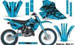 Kawasaki KX80 KX100 95 97 CreatorX Graphics Kit Tribal Bolts BlueIce Rims 150x90 - Kawasaki KX80 KX100 1995-1997 Graphics