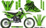 Kawasaki KX80 KX100 95 97 CreatorX Graphics Kit Tribal Bolts Green Rims 150x90 - Kawasaki KX80 KX100 1995-1997 Graphics