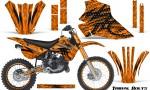 Kawasaki KX80 KX100 95 97 CreatorX Graphics Kit Tribal Bolts Orange Rims 150x90 - Kawasaki KX80 KX100 1995-1997 Graphics