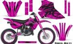 Kawasaki KX80 KX100 95 97 CreatorX Graphics Kit Tribal Bolts Pink Rims 150x90 - Kawasaki KX80 KX100 1995-1997 Graphics