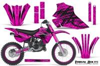 Kawasaki-KX80-KX100-95-97-CreatorX-Graphics-Kit-Tribal-Bolts-Pink-Rims