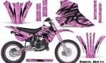 Kawasaki KX80 KX100 95 97 CreatorX Graphics Kit Tribal Bolts PinkLite Rims 150x90 - Kawasaki KX80 KX100 1995-1997 Graphics
