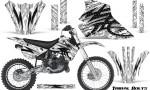 Kawasaki KX80 KX100 95 97 CreatorX Graphics Kit Tribal Bolts White Rims 150x90 - Kawasaki KX80 KX100 1995-1997 Graphics