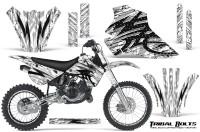 Kawasaki-KX80-KX100-95-97-CreatorX-Graphics-Kit-Tribal-Bolts-White-Rims