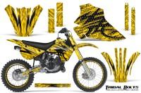 Kawasaki-KX80-KX100-95-97-CreatorX-Graphics-Kit-Tribal-Bolts-Yellow-Rims