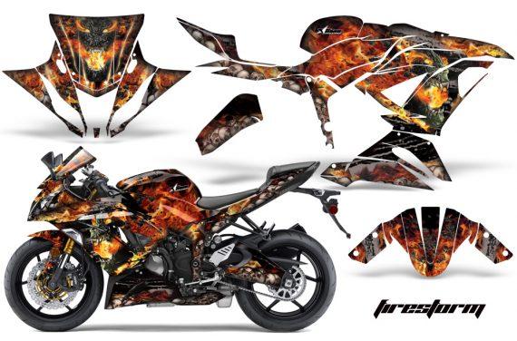 Kawasaki Ninja 636ZX 6R 13 14 AMR Graphics Kit Wrap FS B 570x376 - Kawasaki Ninja 636 ZX6-R Ninja 2013-2014 Graphics