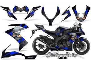 Kawasaki Ninja ZX10 Skulls n Bolts Solid Blue Black 320x211 - Kawasaki ZX10 Ninja 2008-2009 Graphics